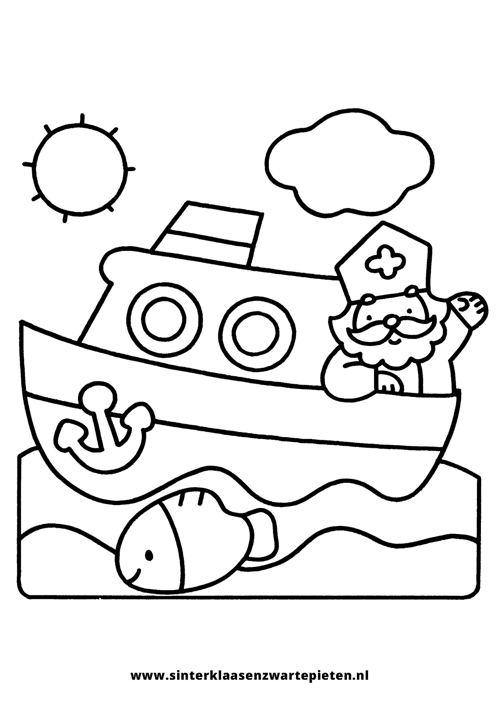 Kleurplaten Sinterklaas Zwarte Piet Stoomboot.Mooi Kleurplaten Sinterklaas Zwarte Piet Stoomboot Klupaats Website