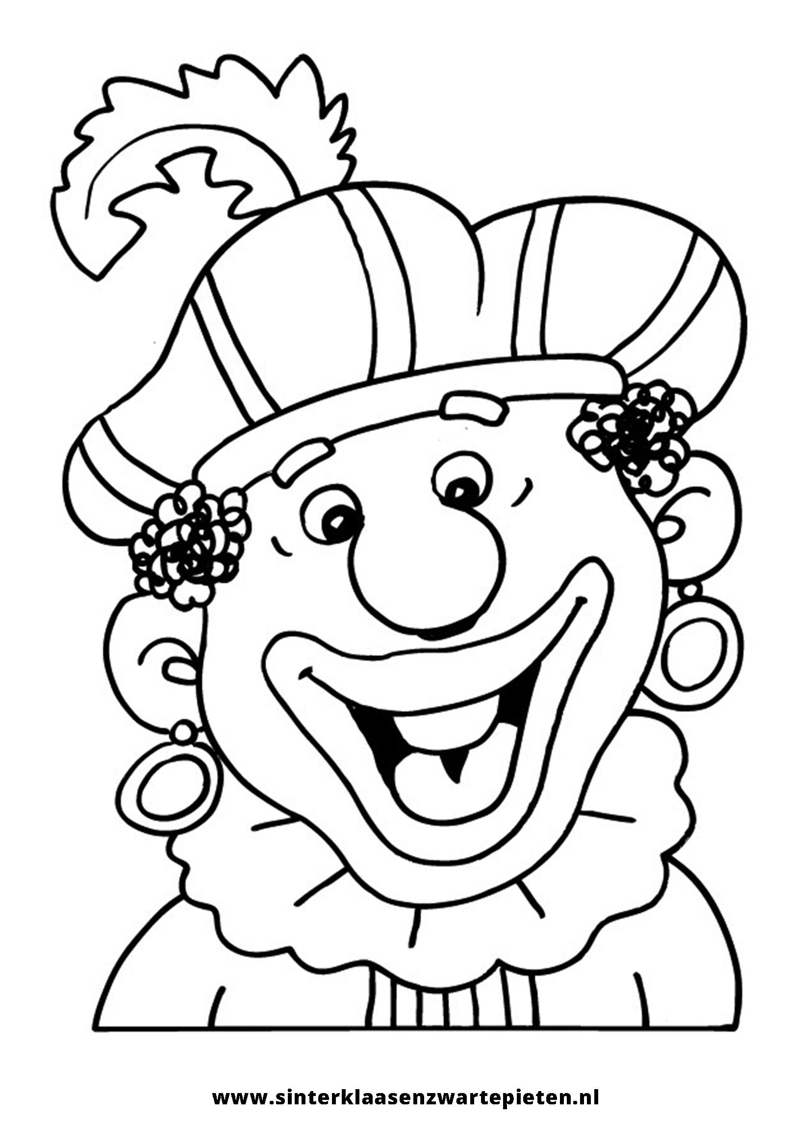 Nieuw Kleurplaat Sinterklaas Zwarte Piet Peuters