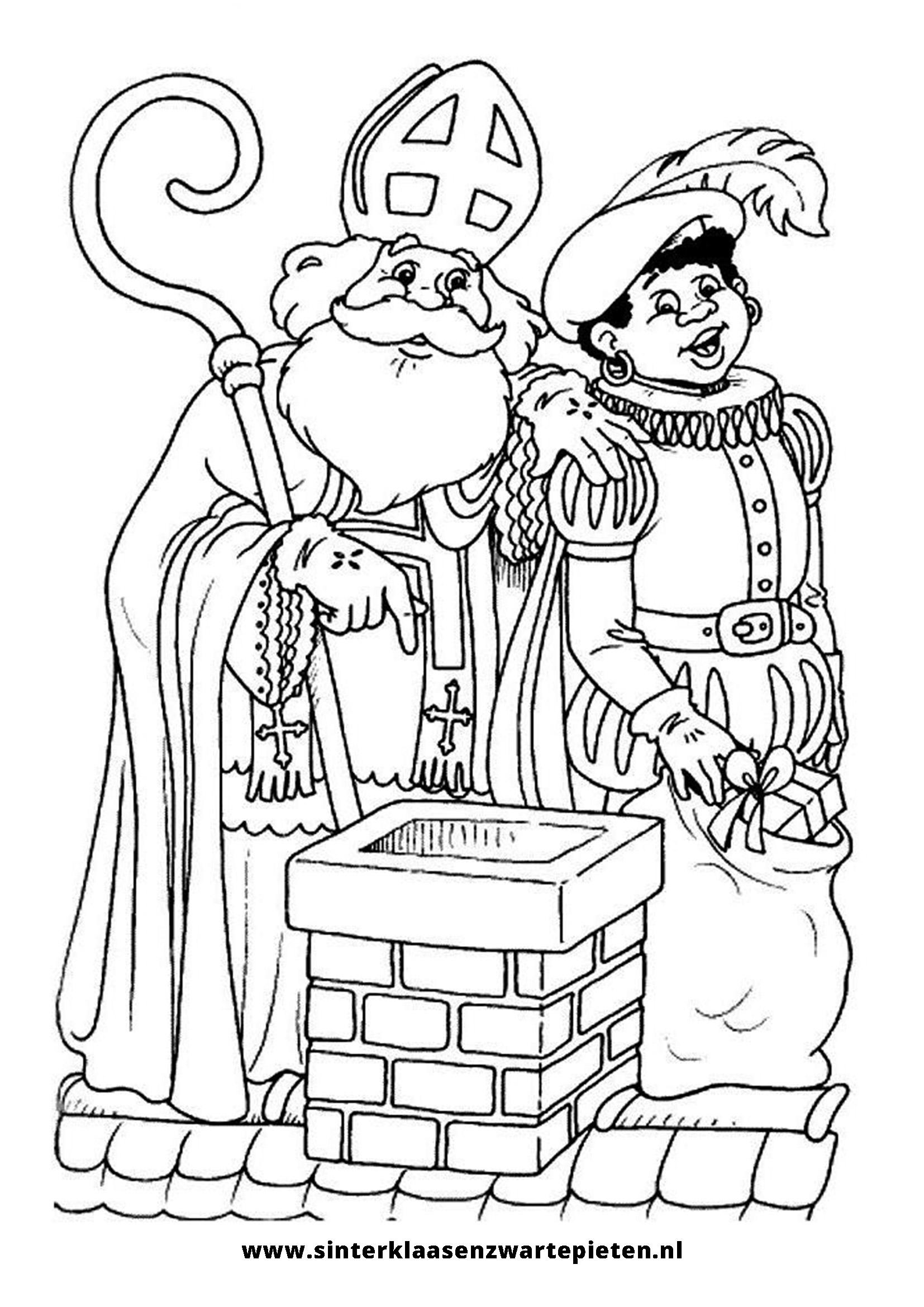 Elegant Kleurplaten Sinterklaas En Zwarte Piet